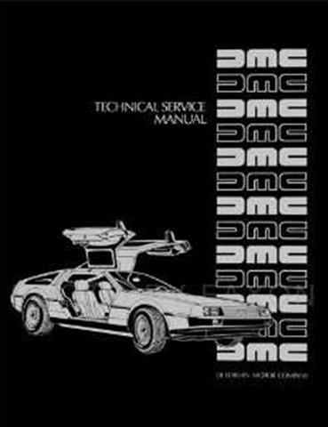 1981-1983 DeLorean Repair Shop Manual Reprint