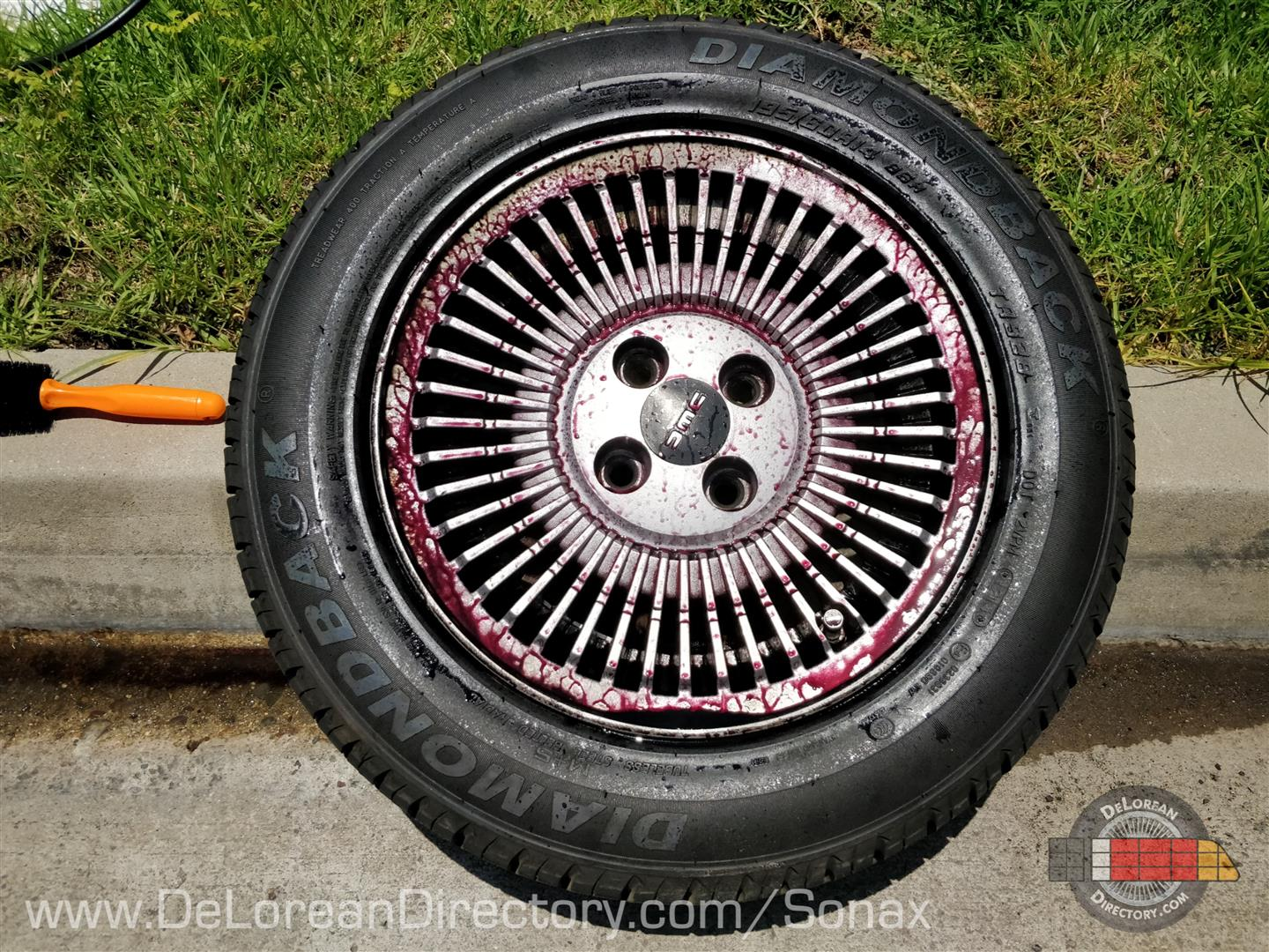 Sonax Wheel Cleaner Plus is Magic On DeLorean Rims | DeLoreanDirectory.com