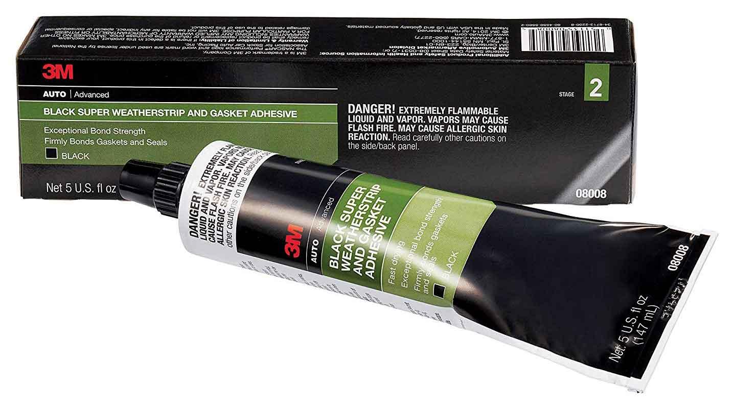 3M Super Weatherstrip Adhesive – Black | DeLorean Directory