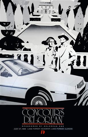 Concours DeLorean poster | DeLoreanDirectory.com