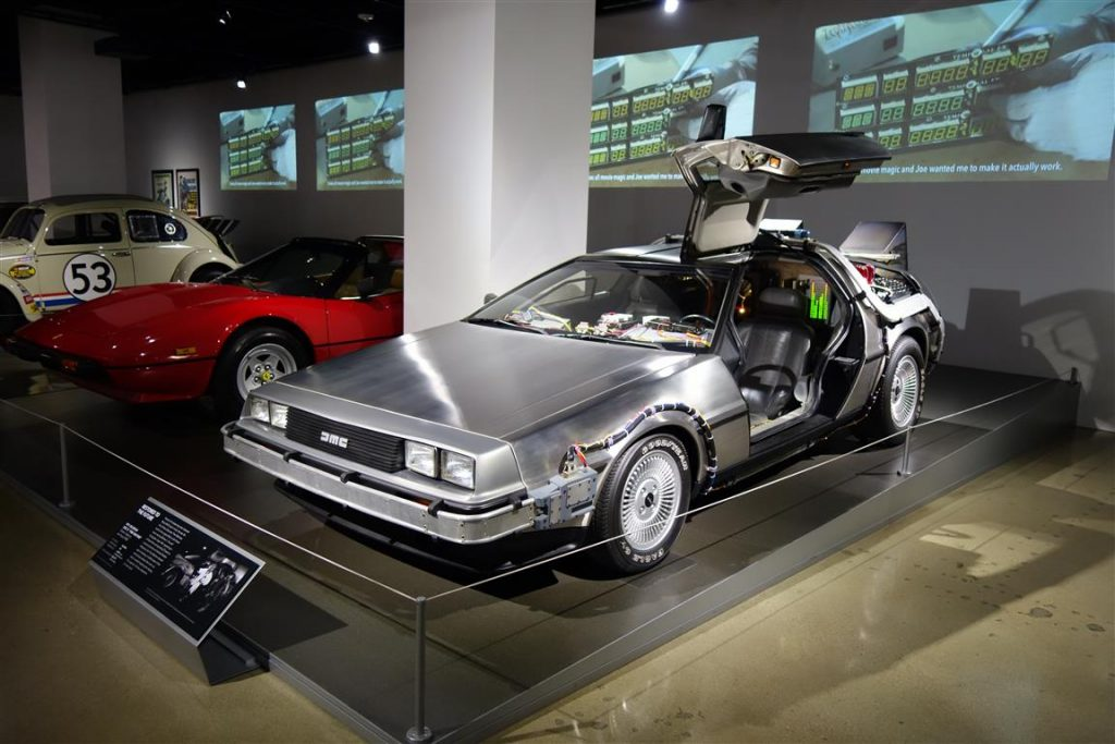 DeLorean Time Machine goes on display