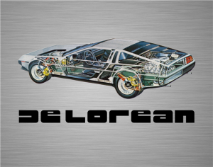 DeLorean Cutaway poster | DeLoreanDirectory.com