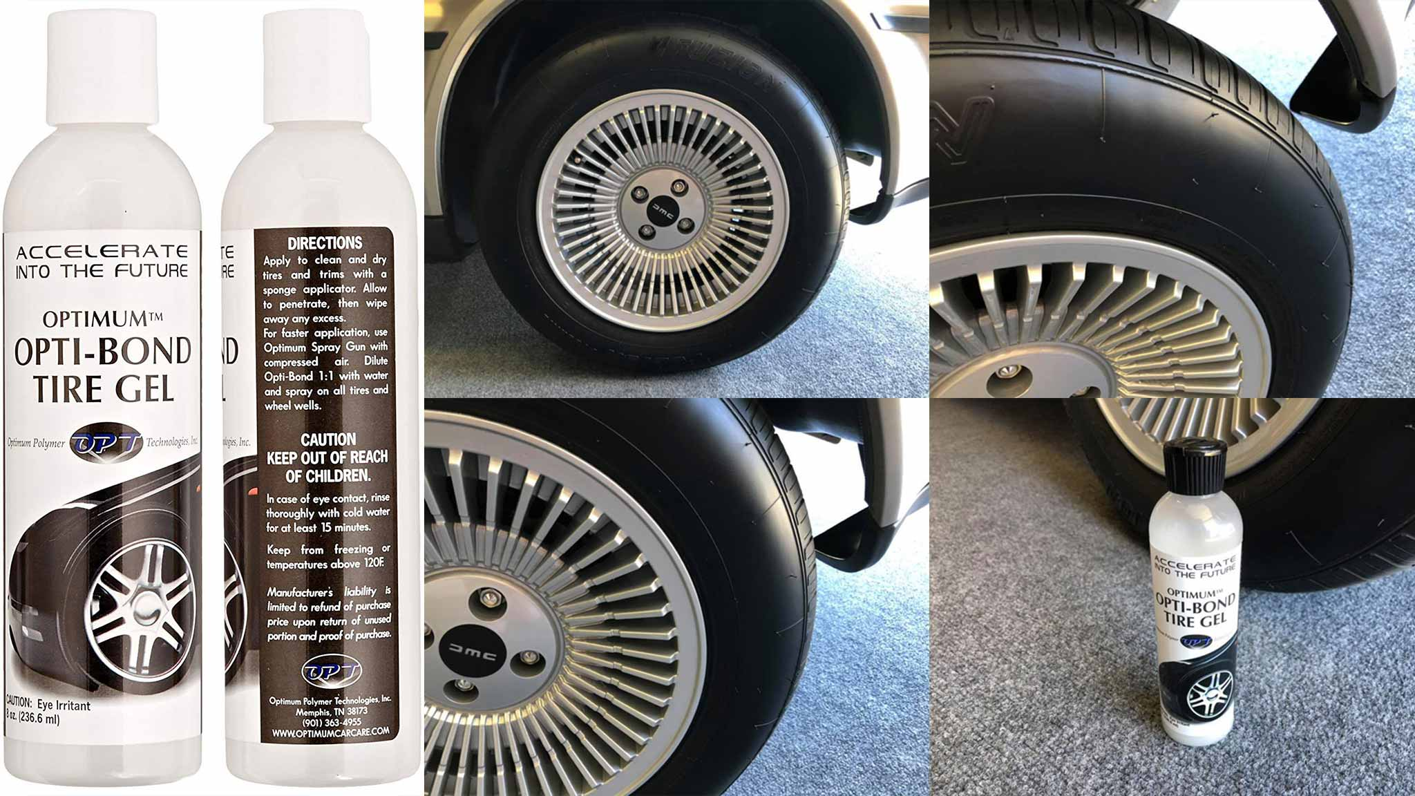 Optimum Opti-Bond Tire Gel | DeLoreanDirectory.com