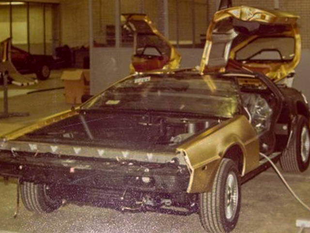 Gold car assembly | DeLoreanDirectory.com