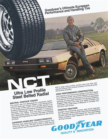 Goodyear NCT Tire Poster | DeLoreanDirectory.com