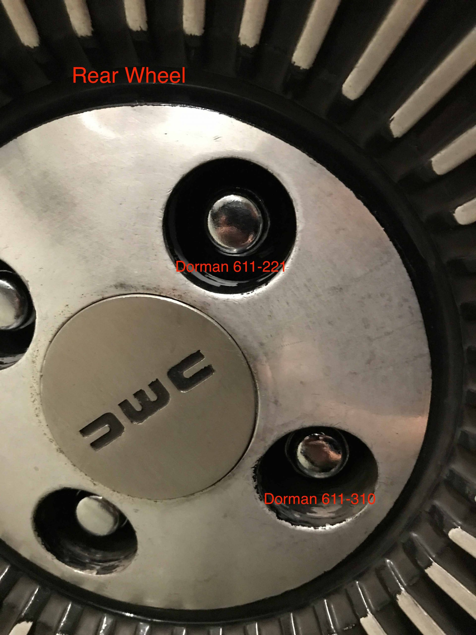 DeLorean Lug Nuts in Wheels | DeLoreanDirectory.com