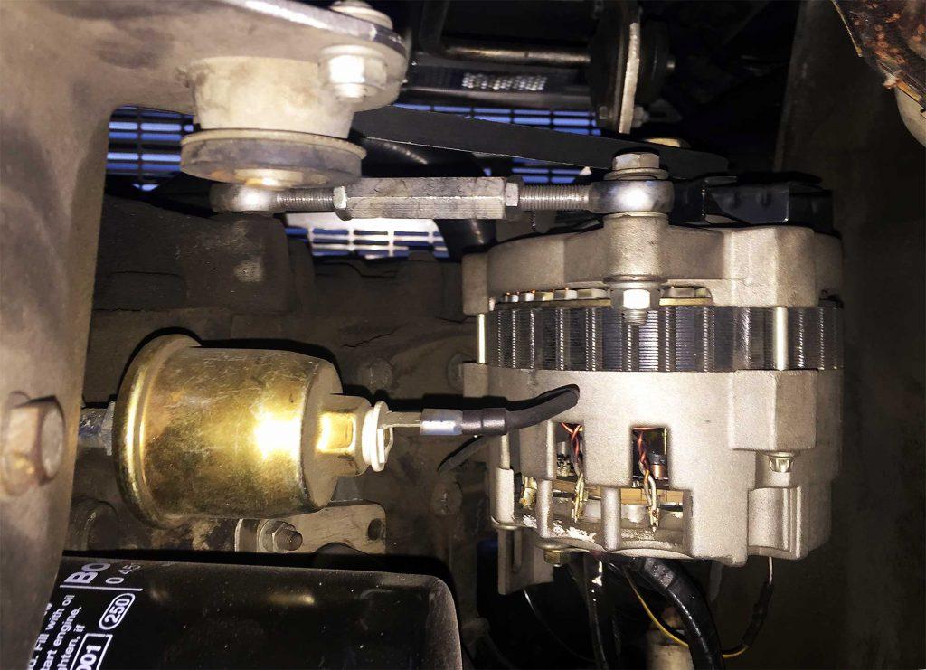 Installed Alternator Tensioner | DeLoreanDirectory.com