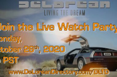 Live Watch Pary - DeLorean, Living The Dream | DeLoreanDirectory.com