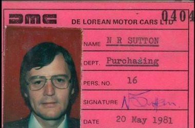 Nick Sutton's DMCL ID | DeLoreanDirectory.com