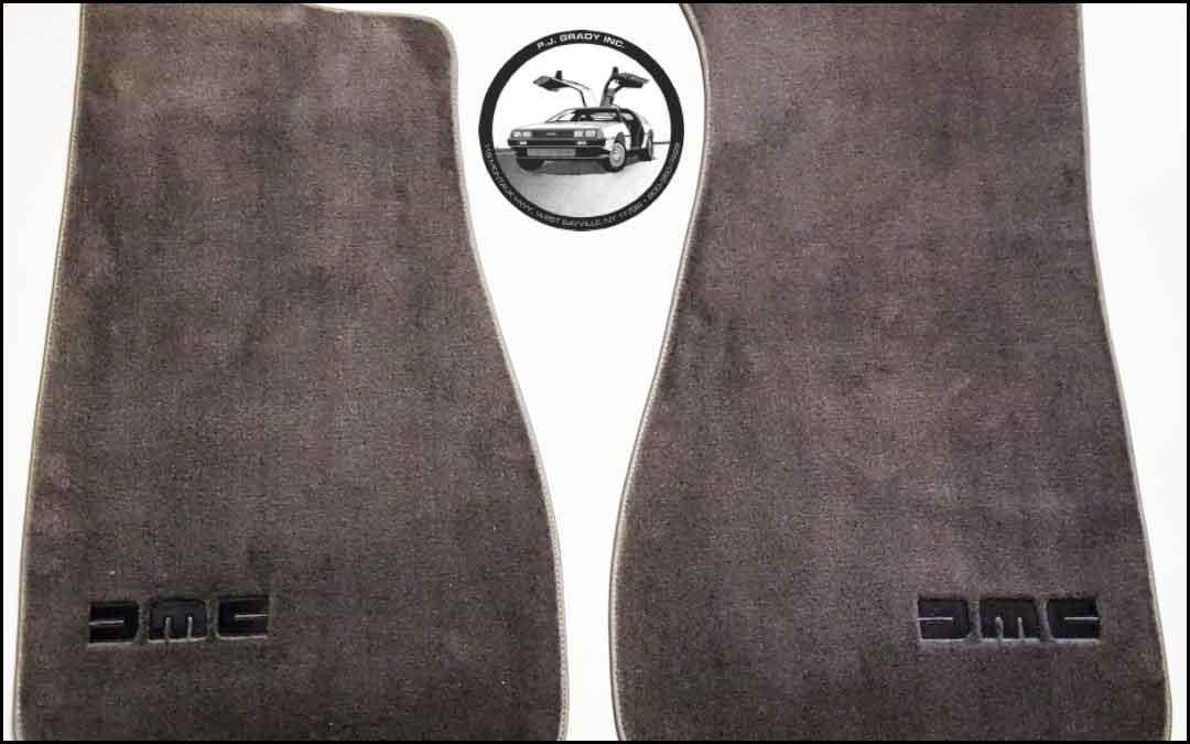 PJ Grady floor mats   DeLoreanDirectory.com