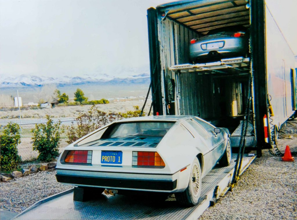 The Exchange of One - Proto1 on auto transport | DeLoreanDirectory.com