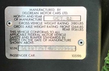 SCEDT26T4BD005564 | DeLoreanDirectory.com