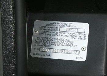 SCEDT26TXBD007075 | DeLoreanDirectory.com