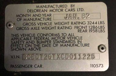 SCEDT26TXCD011225 | DeLoreanDirectory.com