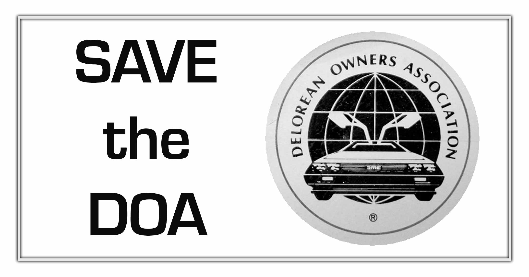 Save the DOA | DeLoreanDirectory.com