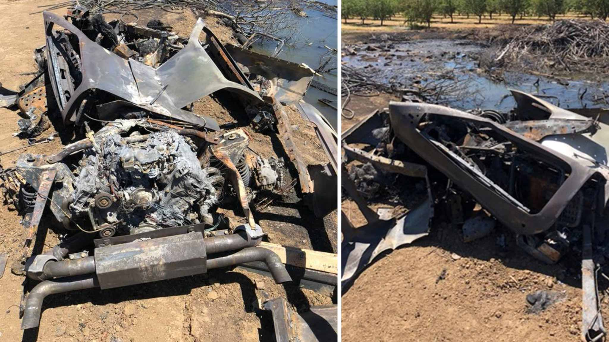 Stolen, Melted DeLorean | DeLoreanDirectory.com