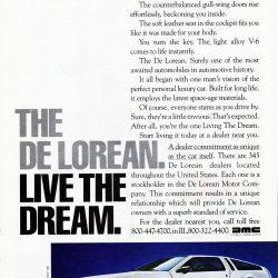 The De Lorean - Live The Dream ad | DeLoreanDirectory.com