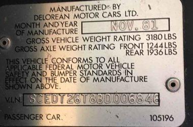 SCEDT26T8BD006846 | DeLoreanDirectory.com