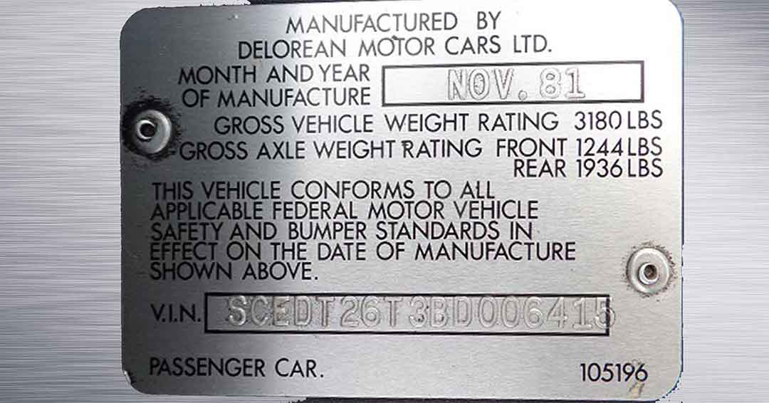 SCEDT26T3BD006415 | DeLoreanDirectory.com