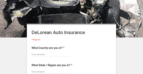DeLorean Insurance Survey